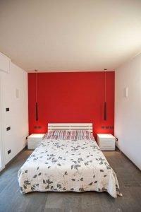 Progetto Rosso Ferrari - Vismara architettura d'interni - Paderno Dugnano