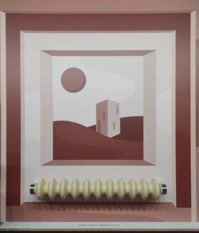 La comunicazione a Parete dell'azienda Tubes (radiatori). Copyright image: Vismara architettura d'interni